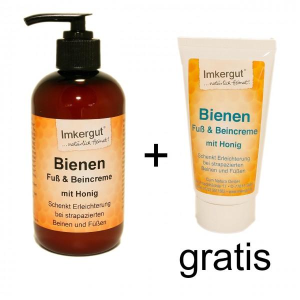 Bienen Fuß & Beincreme 250 ml + Tube 75ml gratis