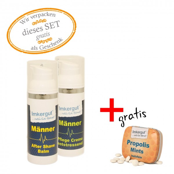 Männer-Set - Pflege & Rasur + gratis Mints