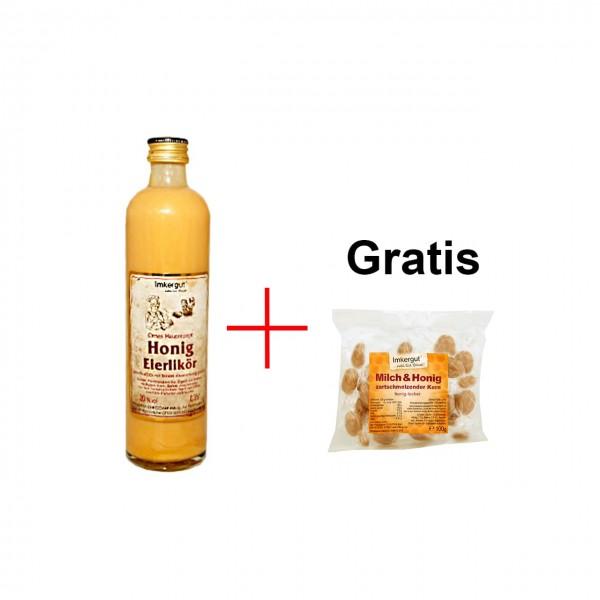 Eierlikör 0,35l + Milch & Honig Bonbons 100g gratis