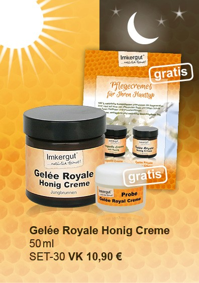 Gelée Royale Honig Creme im 50 ml + 5ml Tiegel gratis