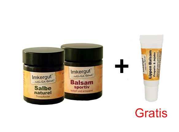 1x Salbe naturel + 1x Balsam sportiv